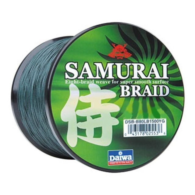 1 DAIWA SAMURAI BRAIDED LINE 70TEST 150 YARDS GREEN