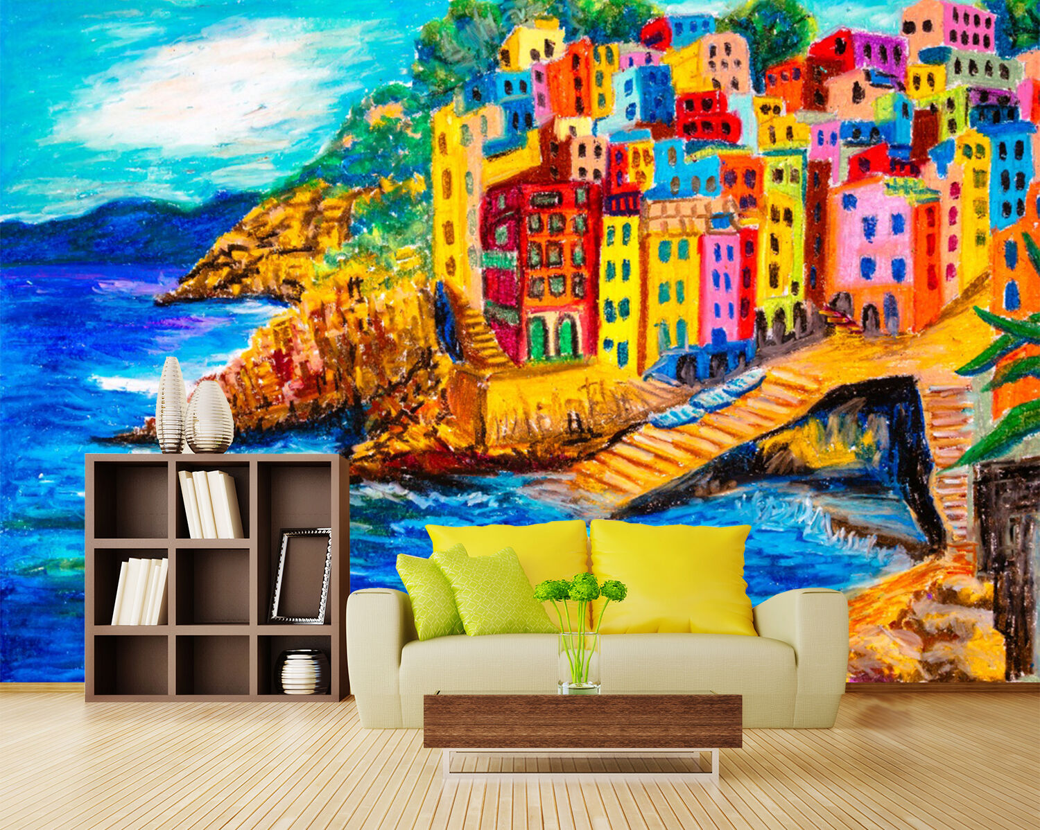 3D Seaside Town Painting 039 Paper Wall Print Wall Decal Wall Deco Indoor Murals