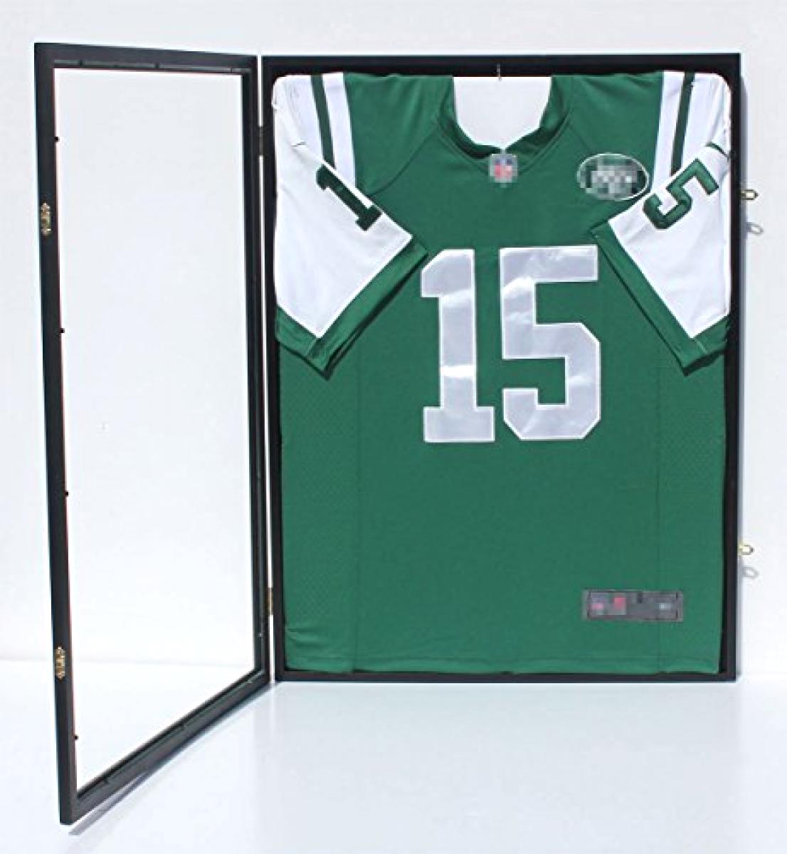 Baseball//Football//Basketball//Soccer//Hockey Jersey Display Case Shadowbox Wall Mount 98/% UV Protection