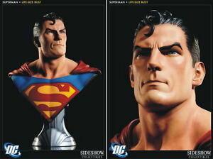 DC-Sideshow-SUPERMAN-LIFE-SIZE-BUST-1-1-scale-RARE-batman-statue-justice