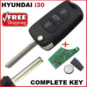 Details about Hyundai i30 key Remote Control Transponder Car Key +  Programming Available