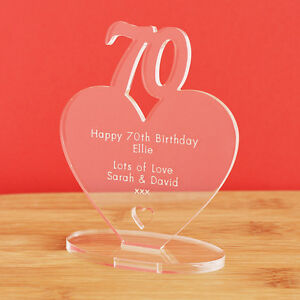 Image Is Loading 70th Birthday Personalised Milestone Heart Keepsake Gift Idea