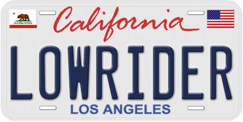 Lowrider Los Angeles California Aluminum Auto Car License Plate