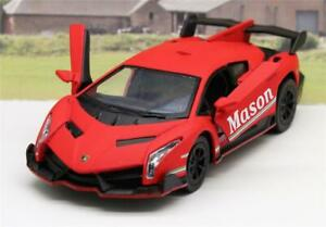 PERSONALISED NAME Red Lamborghini Boy Toy Dad Model Car Birthday Present Gift