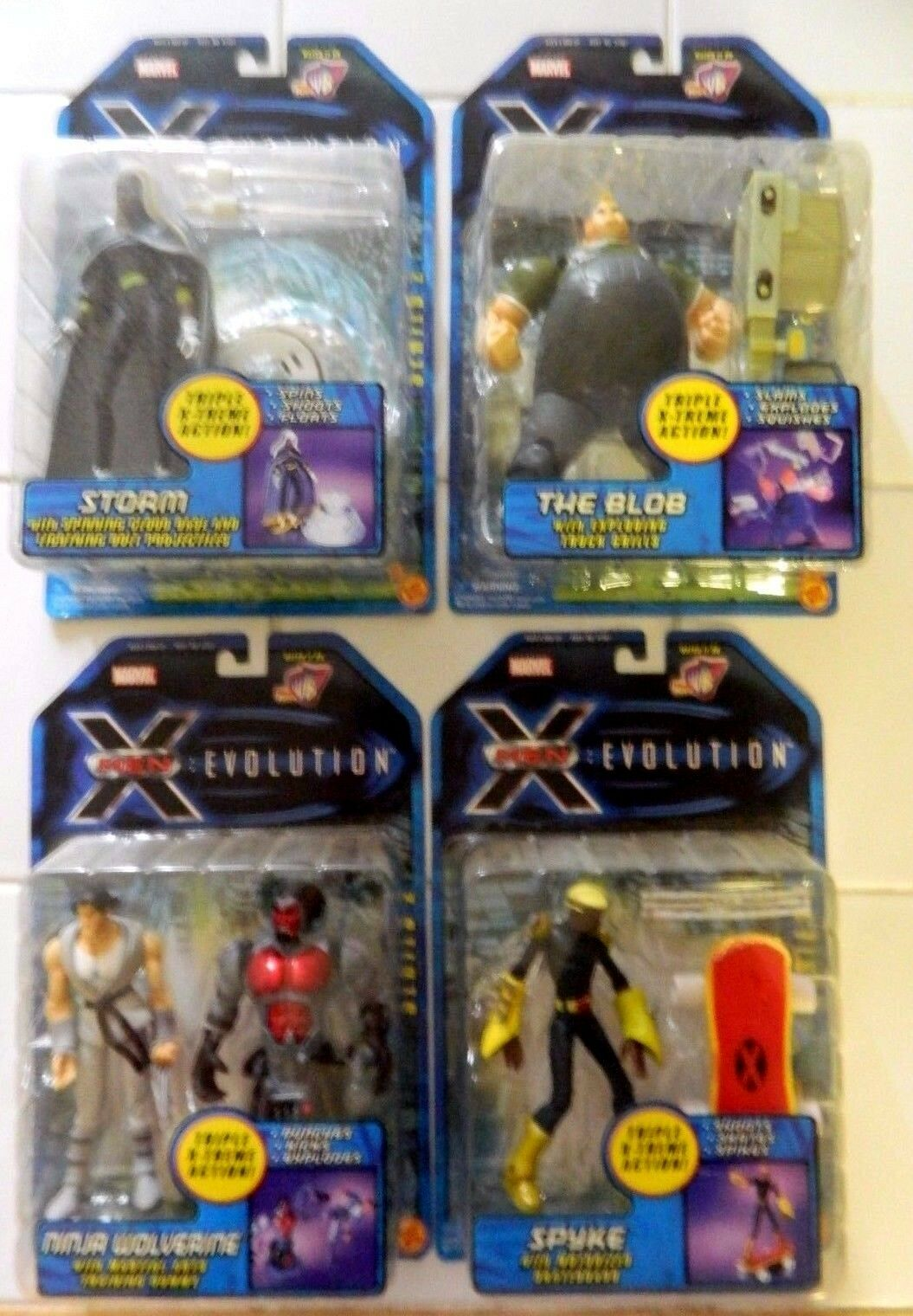 Nuevo en paquete Complete Set 4X X-men Evolución S2 figuras  Ninja Wolverine Blob Storm spyke