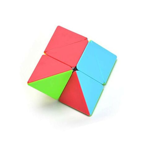 CuberSpeed Qiyi Pyramorphix stickerless Speed Cube Qiyi Pyraminx 2x2 Cube Puz...