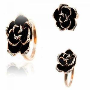 schmuck-crystal-mode-frauen-verstellbare-gold-schwarz-rose-blume