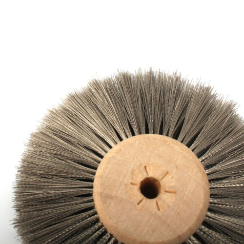 "3/"" 80mm Stainless Steel Wire Abrasive Polishing Wheel Brush For Metal 1//6/'/' Bore"