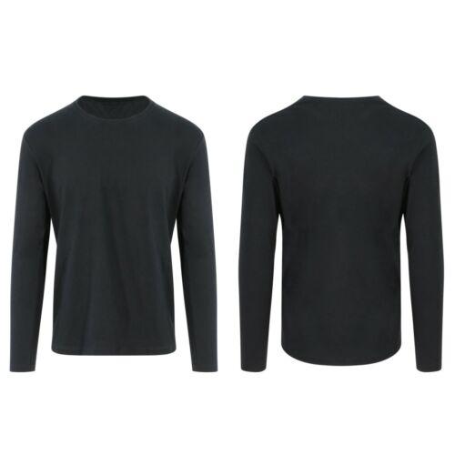 Da Uomo Donna Cotone organico manica lunga T-shirt Girocollo Tee ECO morbido jersey