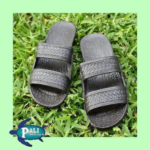 Pali Hawaii Beach Sandal - BLACK  (Womens Size)  - 4 Sizes