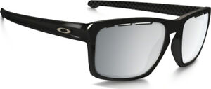 e180c5d43a Image is loading New-Oakley-Sliver-Vented-Sunglasses-Polished-Black-Chrome-