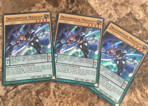 PEVO-EN013 Super Rare 1st Edition M//NM Yugioh 3x Dragonpulse Magician