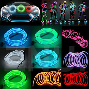 Neon-LED-Light-Glow-EL-Wire-String-Strip-Rope-Tube-Decor-Car-Party-amp-Controller