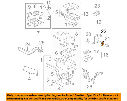 GM OEM Center Console-12V Power Outlet Retainer 10364311