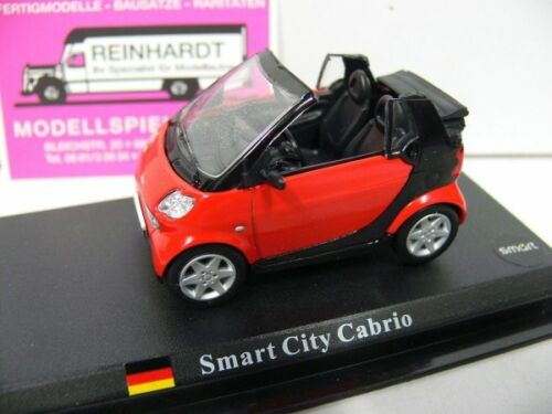1//43 Smart City Cabrio rot//schwarz