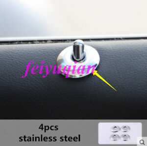 4x stainless Car Interior door lock decoration cover trim for Cadillac XTS 2018