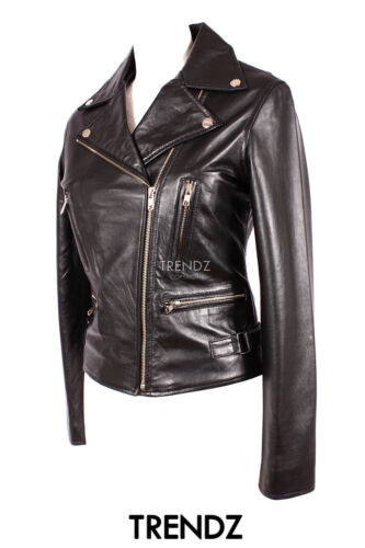 Designer Short Real Jacket Vixen Black Leather Lambskin New Style Biker Ladies Zz6qwn