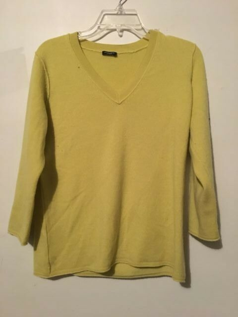Magaschoni 100% Cashmere Neon Sweater Women Size M RN 86804 CA 30427