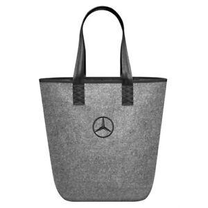 f797bee04cd03 Das Bild wird geladen Original-Mercedes-Einkaufstasche-Filz -Tasche-Shopper-Bag-Filztasche-