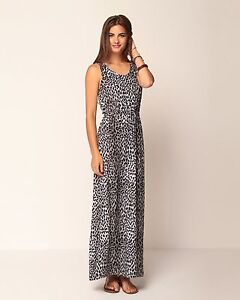 Leopard maxi dress ebay