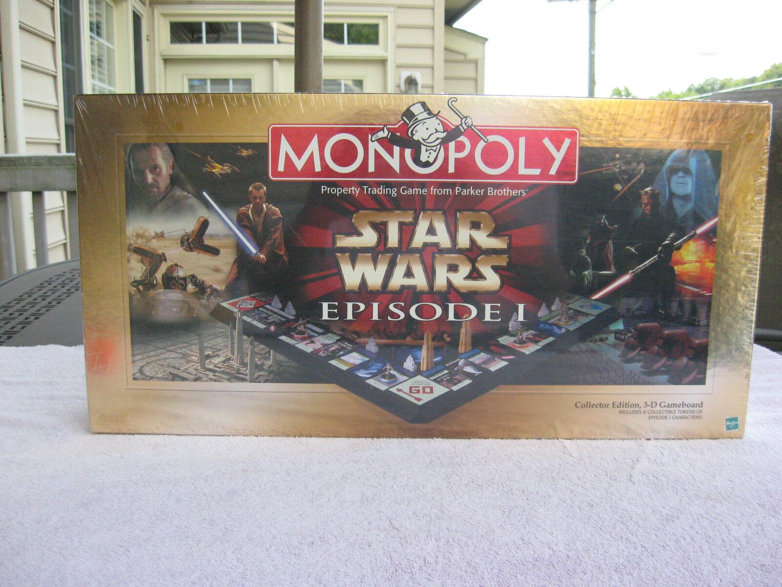 Monopoly Star Wars Episode 1  Collectors Edition 1999 nouveau & FACTORY SEALED  magasin pas cher