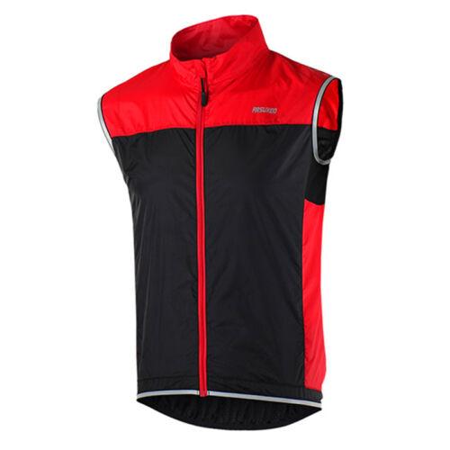 Men Women Sleeveless Cycling Jacket MTB Bike Wind Vest Windbreaker Clothing