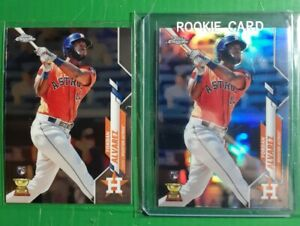 2-2020-Topps-Chrome-YORDAN-ALVAREZ-RC-Rookie-LOT-1-Refractor-200-amp-1-Base