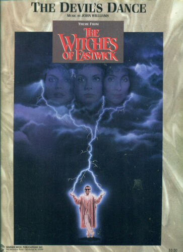 """/""""DEVILS DANCE/"""" WITCHES OF EASTWICK MOVIE SHEET MUSIC PIANO//V//GUITAR CHORDS CHER!"""