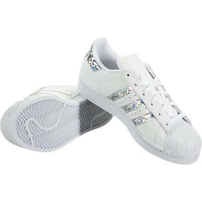 ADIDAS ORIGINALS SUPERSTAR J F33889 DAMEN RETRO TURNSCHUHE WEISS ...