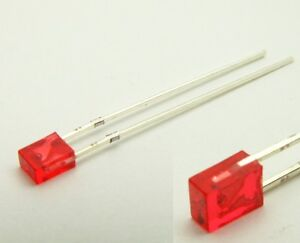 S722-20-Stueck-LED-flach-rechteckig-2x3mm-rot-red-LEDs-2x3x4mm