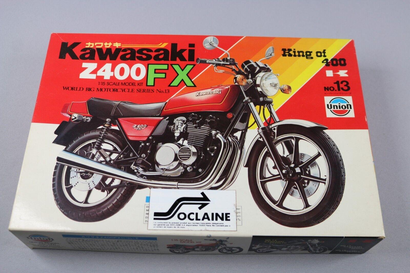 Zf1011 Union 1 15 Maqueta M-13 700 Kawasaki Z400fx World Big Motorcycles Serie