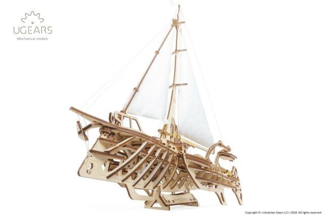 1992759 ugears trimarano a vela Merihobus modello in legno 3d Puzzle per Adult