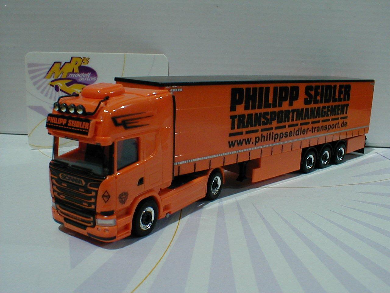 Herpa 926744 Scania r'13 TL Curtain Plan-Articulated Philipp Seidler 1 87