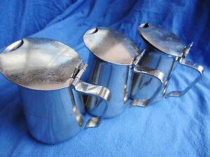 3-Stueck-WMF-Cromargan-Tee-Wasser-oder-Milch-Kaennchen-60ger-70ger-Jahre