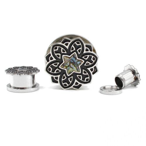 Shell Blossom Flower Flesh Ear Tunnel Plug Gauge Piercing Expander Body Jewelry