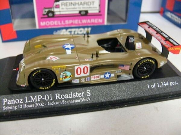 1 43 Minichamps Panoz lmp-1 Roadster Sebring 12hrs.'02 028800