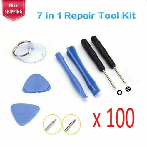 100 sets 7 pieces Repair tool kit for Samsung HTC cellphone Iphone Ipad Ipod