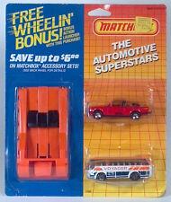 Vintage Matchbox Automotive Superstars Launcher BMW 323L Ikarus Coach Bus HTF