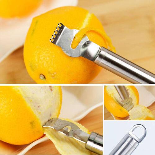 Stainless Steel Fruit Lemon Orange Citrus Zester Grater Grips Peeling Tool 2018