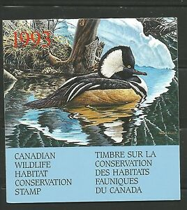 FEDERAL WILDLIFE HABITAT CONSERVATION STAMP FWH9.. $8.50 HOODED MERGANSER