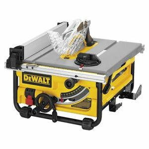 Beau Image Is Loading DeWALT DW745R 10 034 Portable Jobsite Table Saw