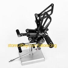 US For Suzuki GSXR 600/750 00-05, 1000 01-04 SV650 S CNC Billet Rearset Footpegs