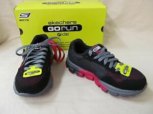 Details about Youth Skechers 12 M Black & Red Go Run Ride Supreme 95672 Lace Athletic Shoes