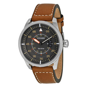 Citizen-Avion-Dark-Grey-Dial-Mens-Watch-AW1361-10H