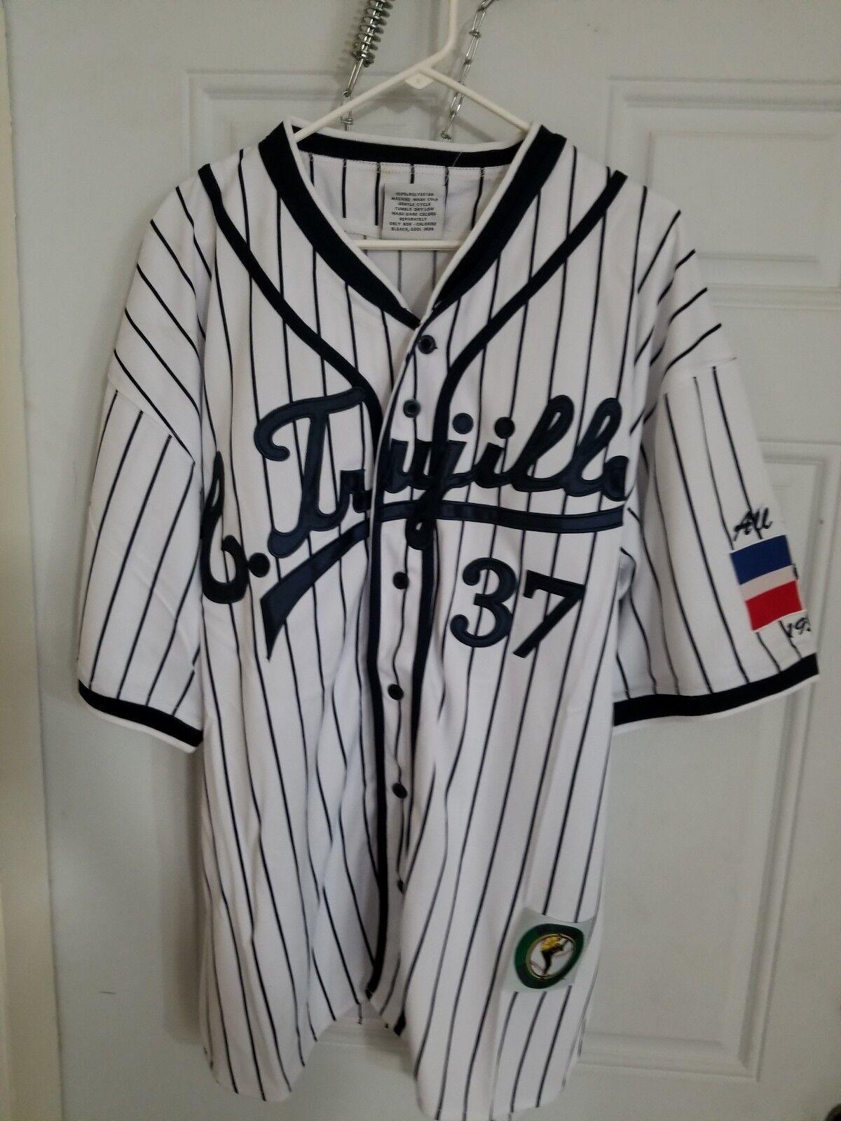 L. Trujillo  37 Baseball Jersey Dominican Vintage Latin League Größe L w Tags