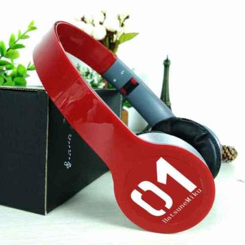 Anime Hatsune Miku Vocaloid Headphone 3.5mm Mic Stereo Earphone Cosplay Headset