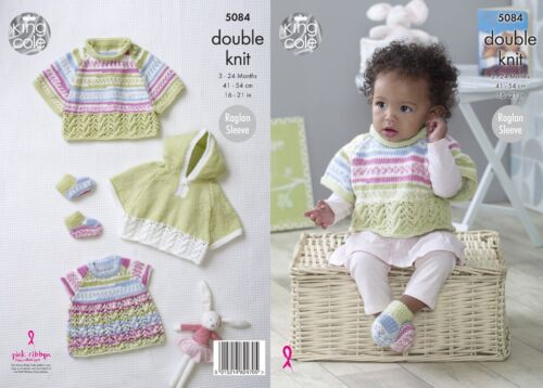 not the finished garments KINGCOLE 5084 BABY DK KNITTING PATTERN  16-21IN