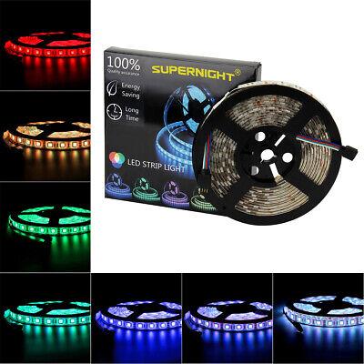 5M 16.4ft 5050 SMD 300 LED Flexible Strip Light Black PCB IP65 Waterproof USCC