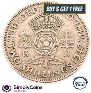 1937 -1951 george vi silver florins/deux shillings choix de date