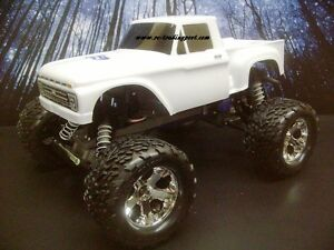 Custom Painted Body 1966 Ford F 100 For 1 10 Rc Monster Truck Traxxas Stampede Ebay